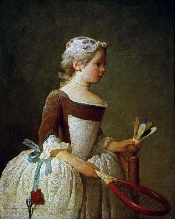 Девочка с воланом. Жан-Батист Симеон Шарден