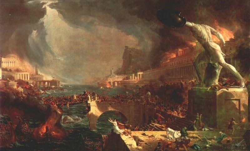 the course of empire iv destruction 1836. Tomas Cole