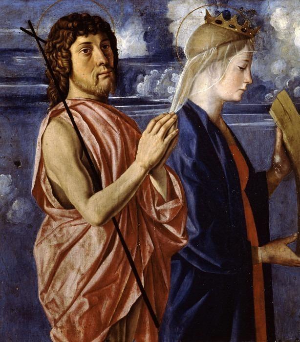 Иоанн Креститель и святая Екатерина Александрийская (Полиптих Корнальба). Кристофоро Казелли