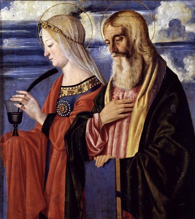 Святая Мария Магдалина и св. Иоанн Богослов (Полиптих Корнальба). Кристофоро Казелли