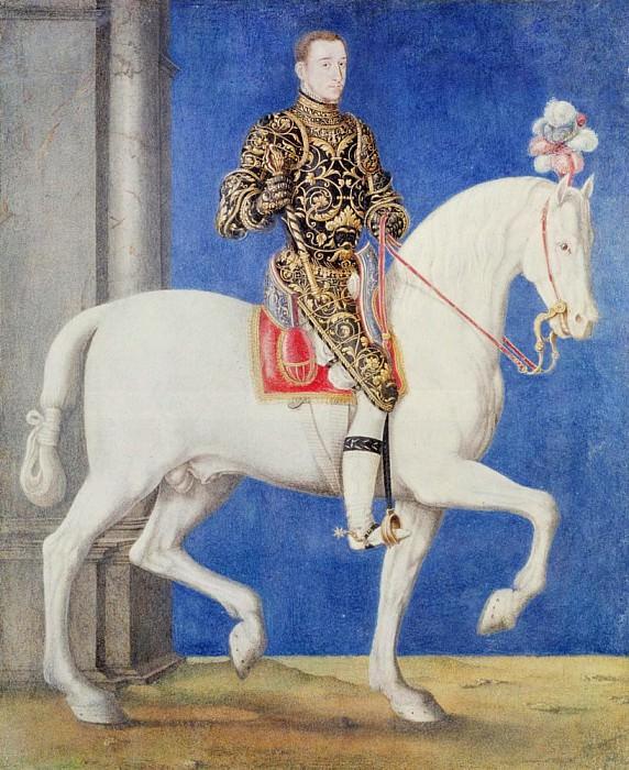 Конный портрет Дофина Генриха II (1519-1559). Франсуа Клуэ