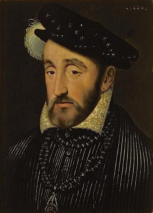Portrait of Henri II of France (1519-1559). Francois Clouet