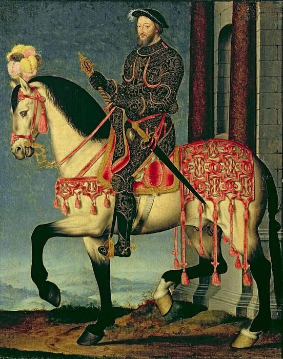 Конный портрет Франциска I, Короля Франции. Франсуа Клуэ