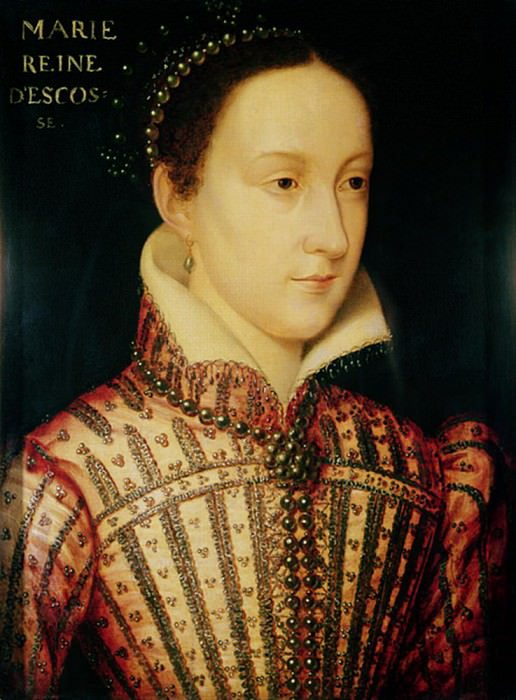 Miniature of Mary Queen of Scots. Francois Clouet