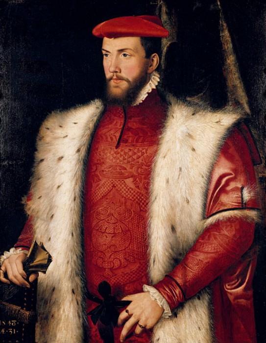 Portrait of Odet de Coligny (1517-1571) Cardinal of Chatillon. Francois Clouet