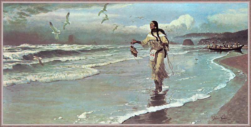 Сакаавея у большой воды. Джон Клаймер