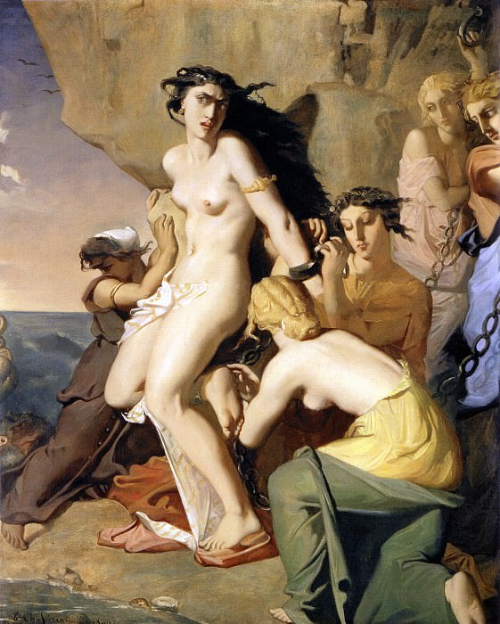 Andromeda Chained to the Rock by the Nereids 1840. Theodore Chasseriau