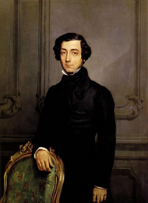 Portrait of Alexis de Toqueville 1850. Theodore Chasseriau