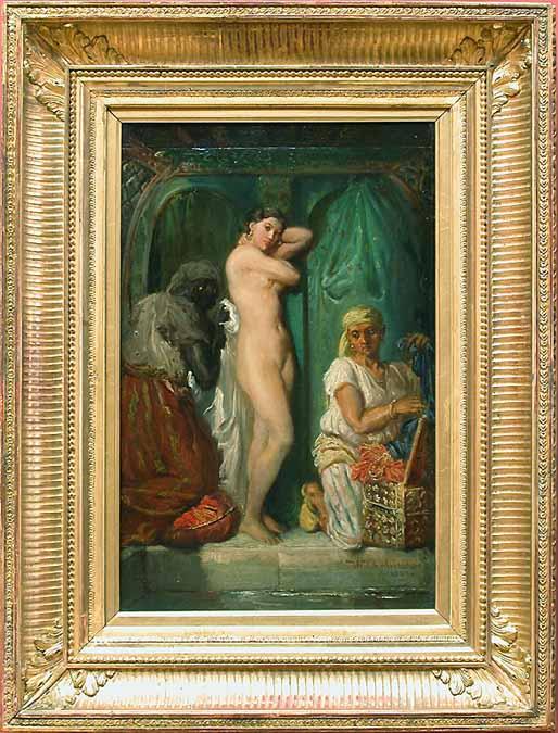 Un bain au serail. Theodore Chasseriau