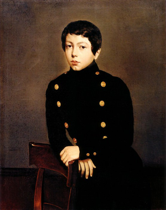 Portrait of Ernest Chasseriau The Painter-s Brother in the Uniform of the Eco. Theodore Chasseriau