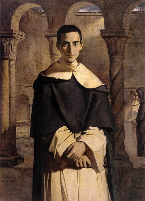 Portrait of the Reverend Father Dominique Lacordaire of the Order of the Pred. Theodore Chasseriau