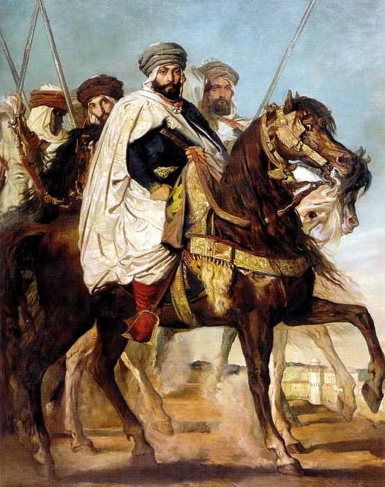 Ali Ben Hamet Caliph of Constantine of the Haractas followed by his Escort 18. Theodore Chasseriau