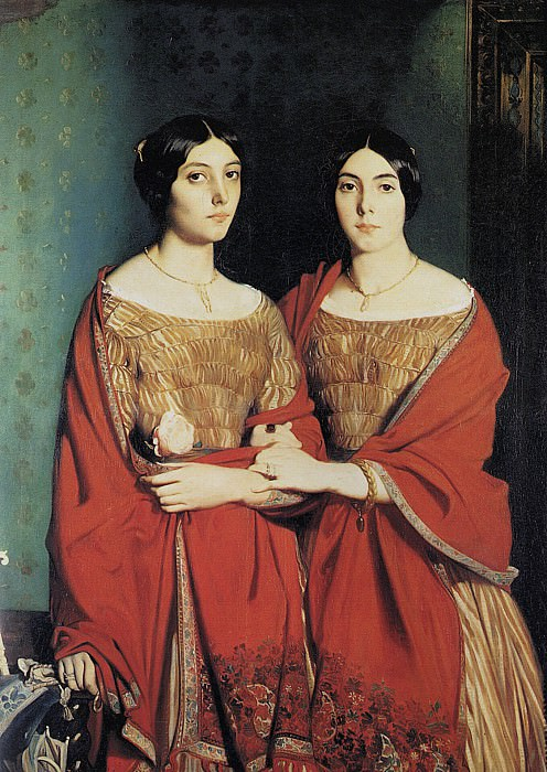 Theodore The Two Sisters. Theodore Chasseriau
