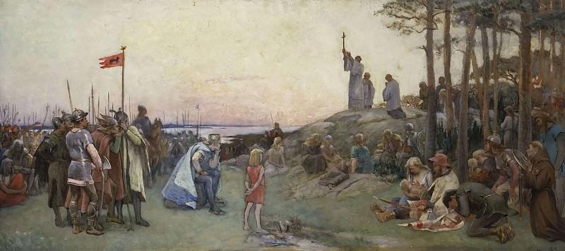 Ansgar Preaching Christianity. Gustaf Olof Cederström