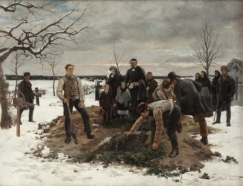 A Funeral in Alsike. Gustaf Olof Cederström