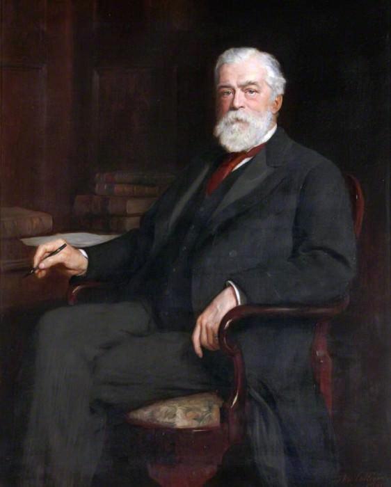Joseph Russell Bailey (1840–1906), 1st Baron Glanusk. John Collier