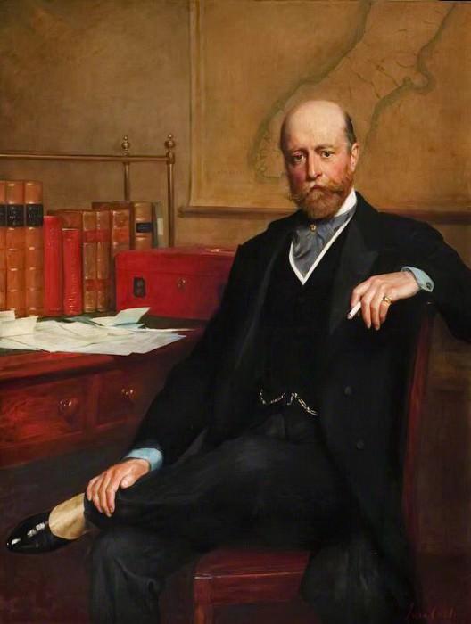 Сэр Уильям Гильер (1853–1911), четвертый граф Онслоу. Джон Кольер