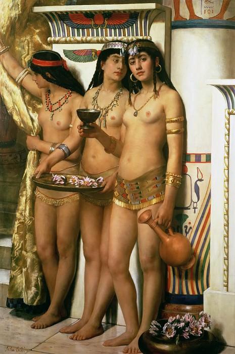 Pharaoh´s Handmaidens. John Collier