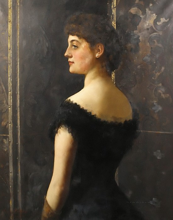 Portrait of Laura Mary Stapleton. John Collier