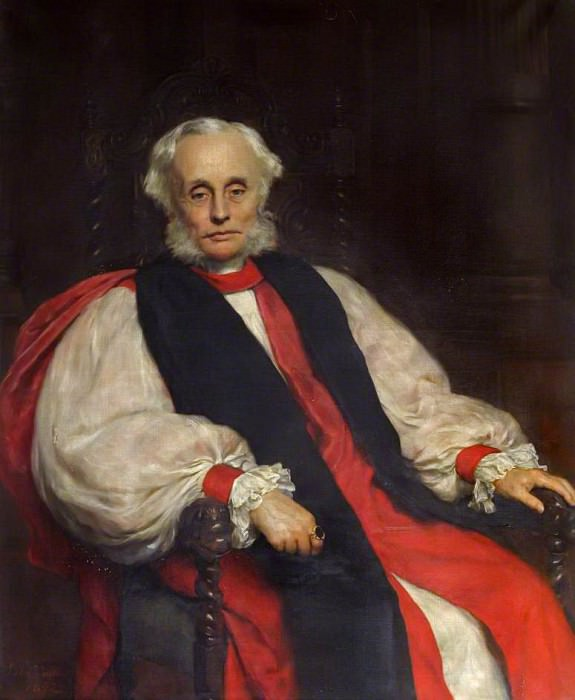 John James Stewart Perowne (1823–1904), Bishop of Worcester. John Collier