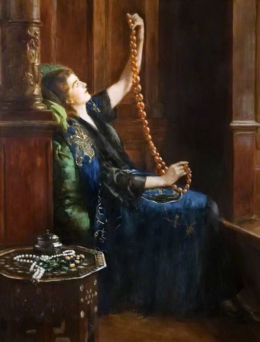 The Amber Necklace. John Collier