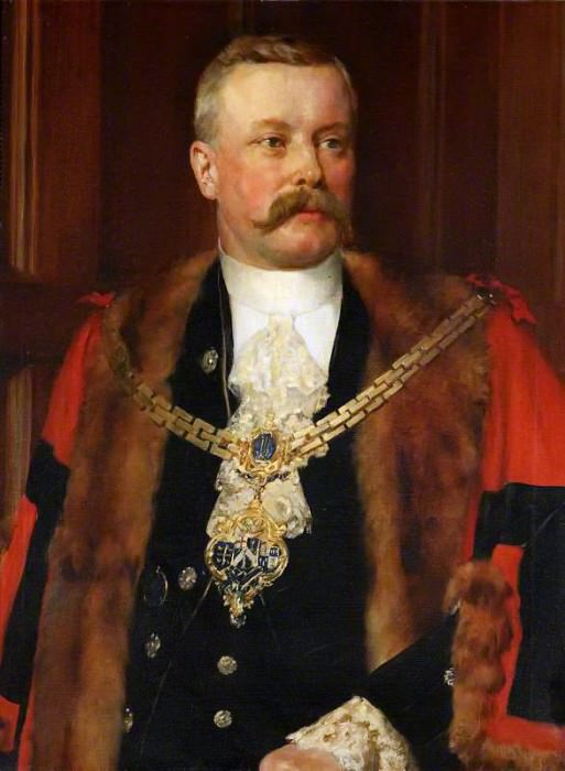 Sir Charles Tertius Mander (1852–1929), Mayor of Wolverhampton. John Collier