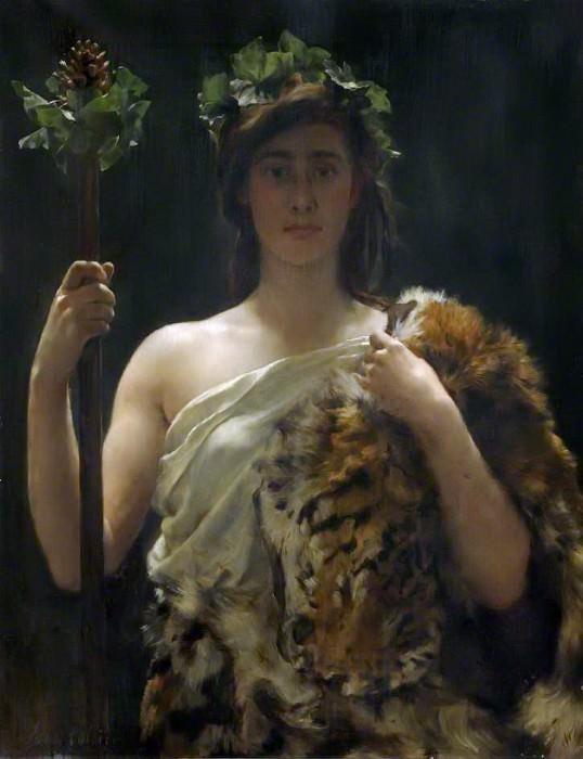 Priestess Bacchus. John Collier