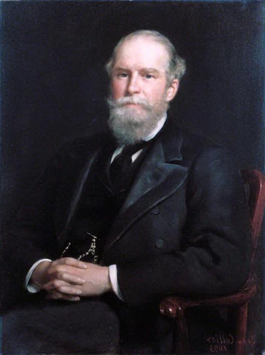 John Lubbock (1834–1913), 1st Baron Avebury, Banker, Politician, Biologist and Archaeologist. John Collier