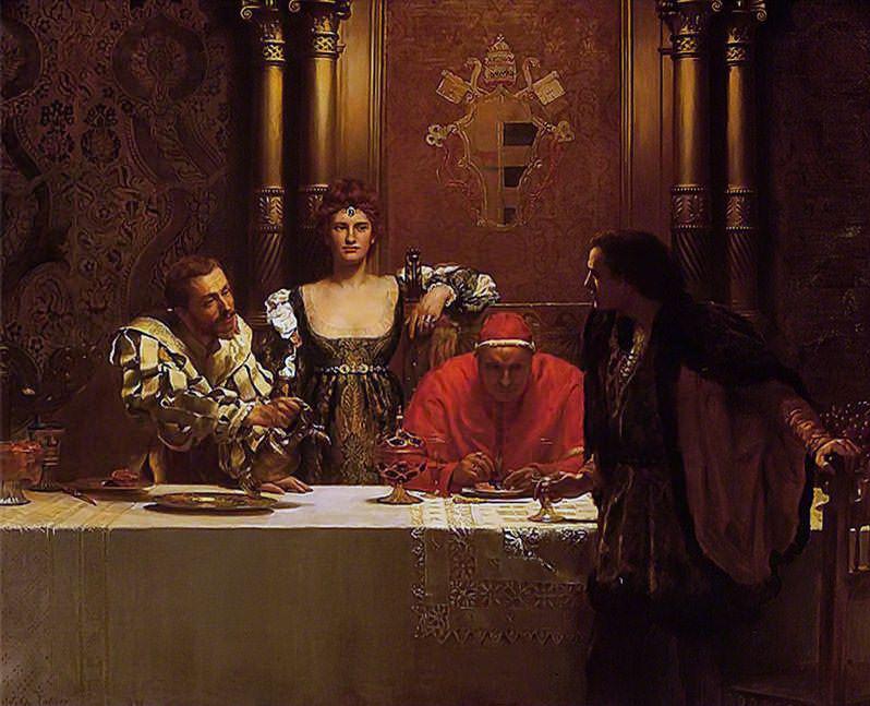 A Glass of Wine with Caesar Borgia. John Collier