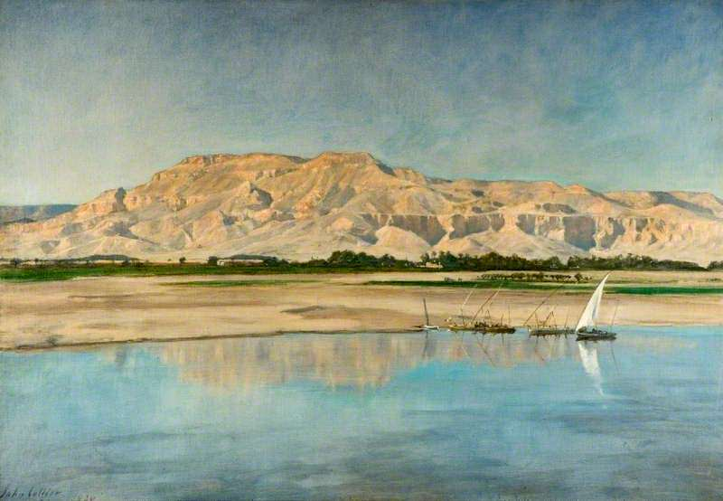 Theban Hills from Luxor. John Collier