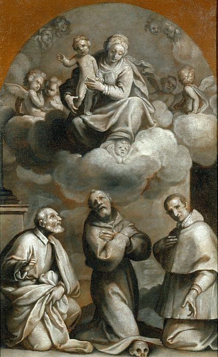 Мадонна с младенцем во славе и святые Иосиф, Франческо д'Ассизи и Карло Борромео. Карло Череза