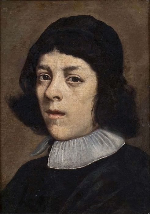 Portrait of a Young Man with a Beret. Carlo Ceresa (Attributed)