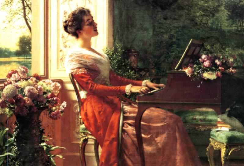 At the Clavichord Love Song. Ladislas Wladislaw Von Czachorski