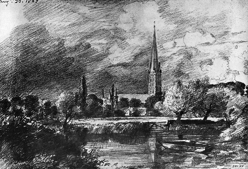 Salisbury cathedral. John Constable