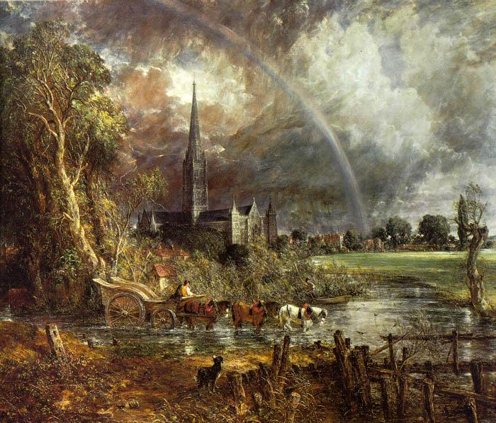 Вид на кафедральный собор Солсбери с луга, 1831. Джон Констебл