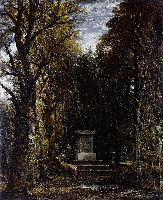 Cenotaph to the Memory of Sir Joshua Reynolds, erected in the grounds of Coleorton Hall, Leicestershire by the late Sir George Beaumont. John Constable