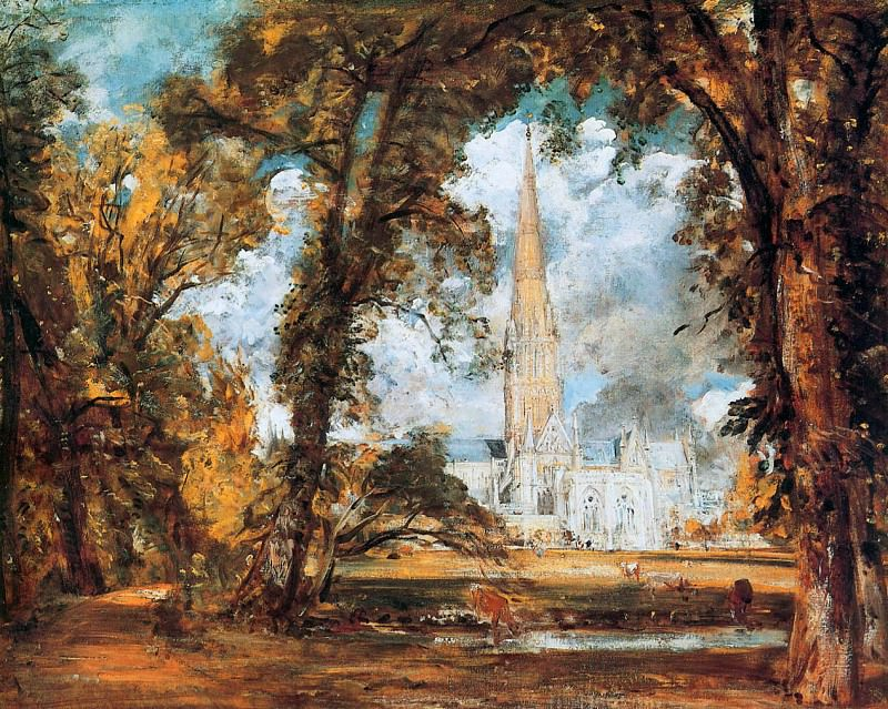 The cathedral of Salisbury. John Constable