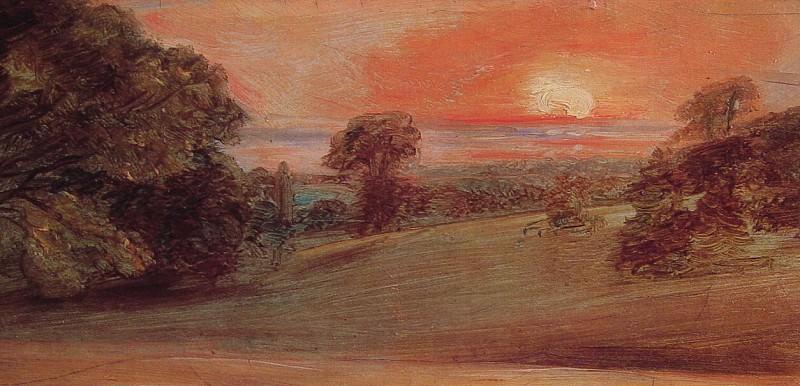 Evening Landscape at East Bergholt. John Constable