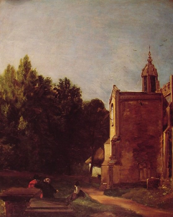 A Church porch. John Constable