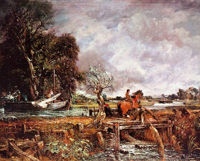 THE LEAPING HORSE, 1825, OIL ON CANVAS. John Constable