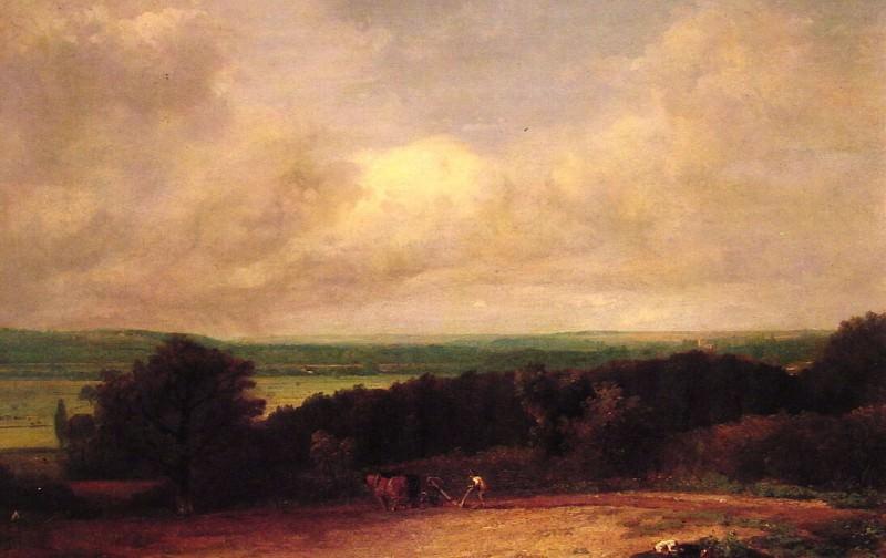 Пейзаж с пахотой поля в Суффолке. Джон Констебл