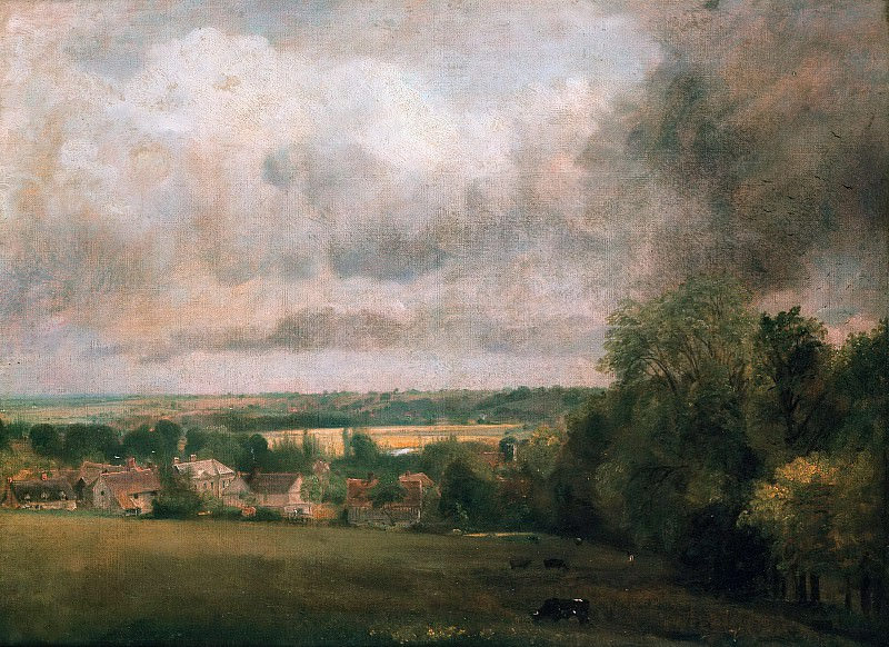 Higham Village on the River Stour. John Constable