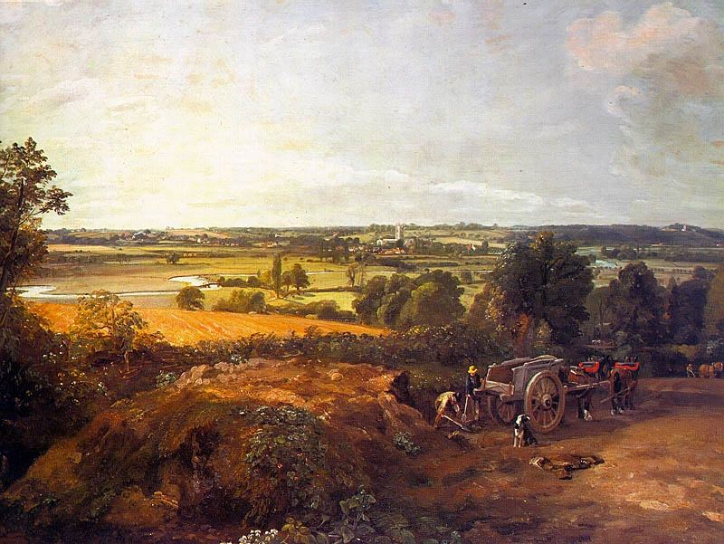STOUR VALLEY AND DEDHAM VILLAGE, APPROX. 1814,. John Constable
