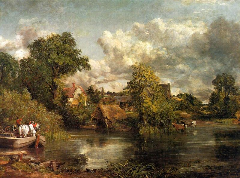 THE WHITE HORSE, 1819, OIL ON CANVAS. John Constable