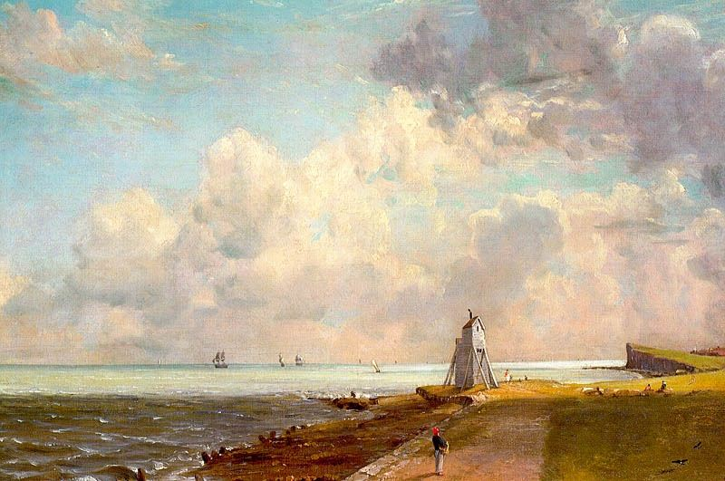HARWICH LIGHTHOUSE, APPROX. 1820, OIL ON CANVAS. John Constable