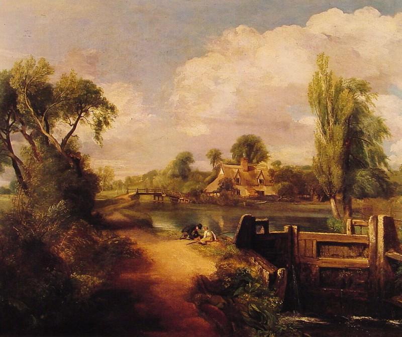 Landscape Boys Fishing. John Constable