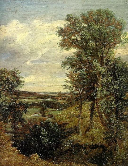 DEDHAM VALE, 1802, OIL ON CANVAS. John Constable