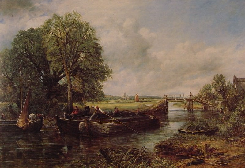 A View on the Stour near Dedham. John Constable