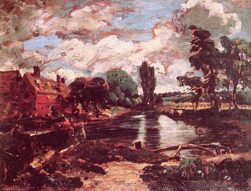 Flatford Mill from the lock. John Constable