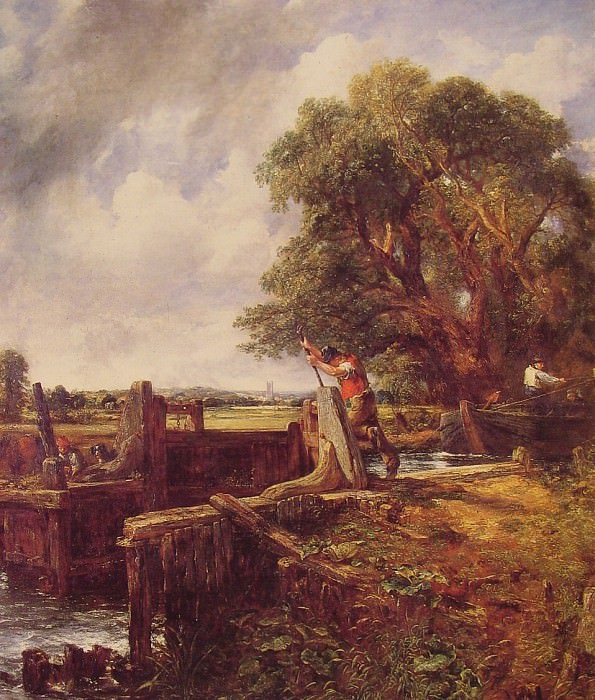 Boat Passing a Lock. John Constable
